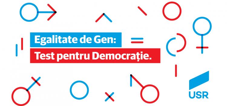 """USR organizează conferința """"Egalitatea de gen: Test pentru democrație"""""""