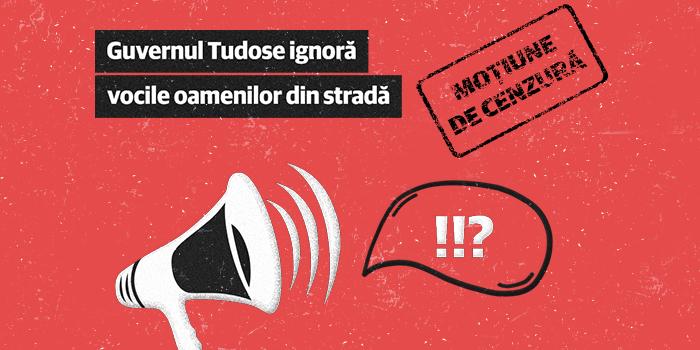 USR susține moțiunea de cenzură împotriva Guvernului Tudose