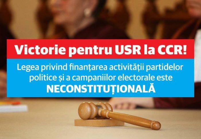 Victorie pentru USR la Curtea Constituțională