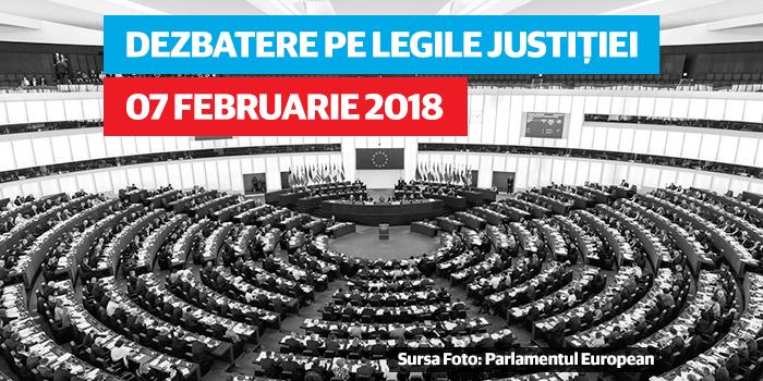 Parlamentul European dezbate legile justiției din România