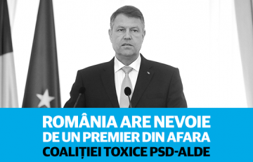 USR va solicita președintelui Iohannis să propună un premier din afara coaliției toxice PSD-ALDE
