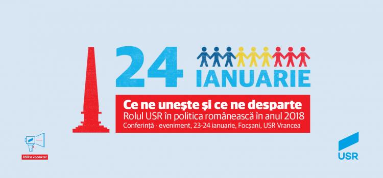 Președintele Dan Barna și mai mulți parlamentari USR vor sărbători Mica Unire la Focșani
