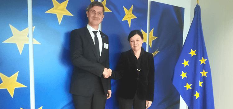 Președintele USR, Dan Barna, întâlnire de lucru la Bruxelles cu Comisarul European pentru Justiție, Věra Jourová