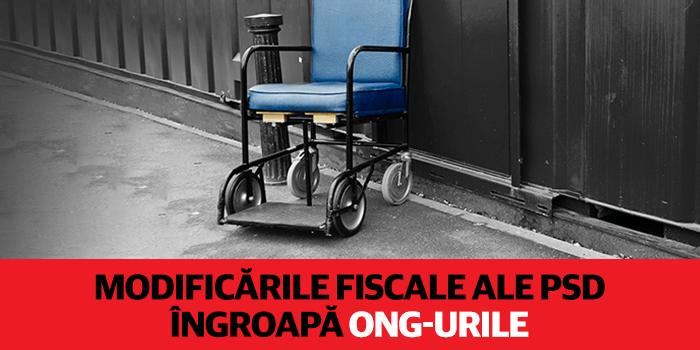 Modificările fiscale ale PSD îngroapă ONG-urile