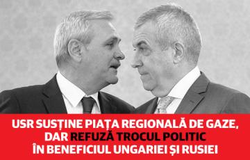 USR susține piața regională de gaze, dar refuză trocul politic în beneficiul Ungariei și Rusiei