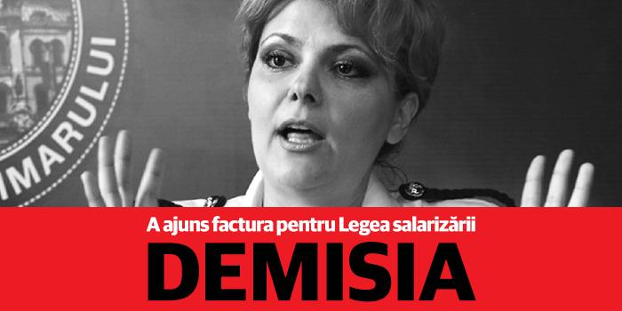 Ministrul Muncii Lia Olguța Vasilescu trebuie să plătească factura pentru Legea salarizării cu demisia!