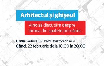 """USR organizează conferința """"Arhitectul și ghișeul"""""""
