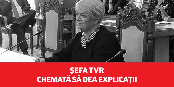 USR a solicitat audierea șefei TVR în Parlament pentru difuzarea interviului cu Sebastian Ghiță