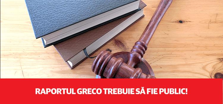 Parlamentul trebuie să solicite publicarea raportului GRECO