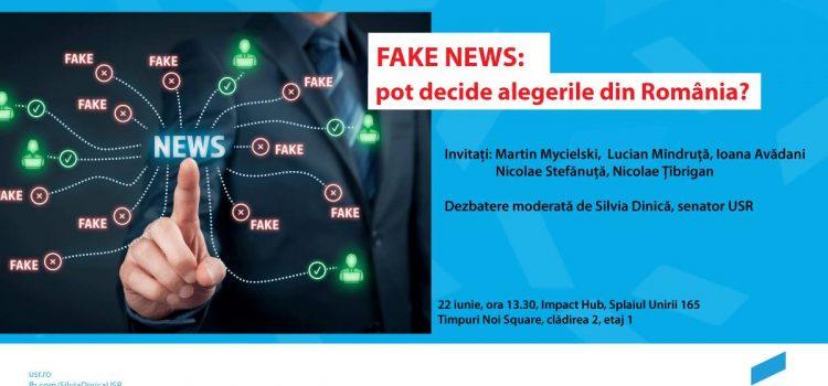 USR organizează dezbaterea Fake news: pot decide alegerile din România?