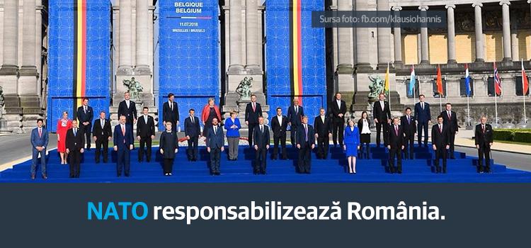 NATO responsabilizează România