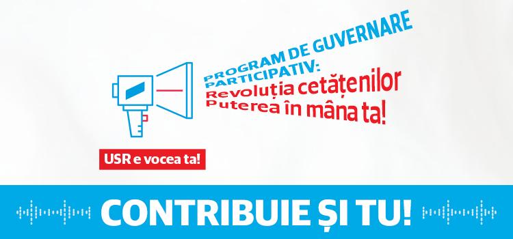 USR lansează primul program de guvernare participativ: Revoluția cetățenilor – Puterea în mâna ta!