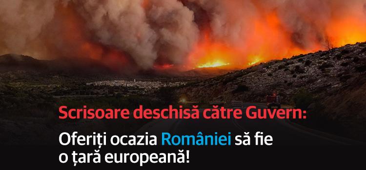 Scrisoare deschisă către Guvern: Oferiți ocazia României să fie o țară europeană