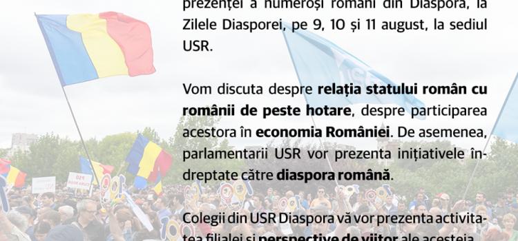 Zilele Diasporei. USR invită la dialog românii din Diaspora