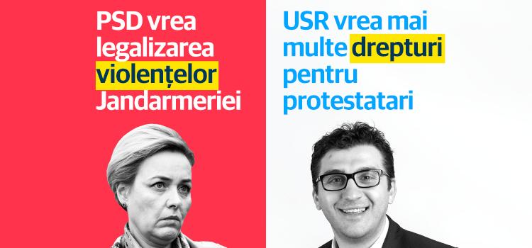 USR se opune intențiilor PSD-ALDE de îngrădire a dreptului cetățenilor de a protesta