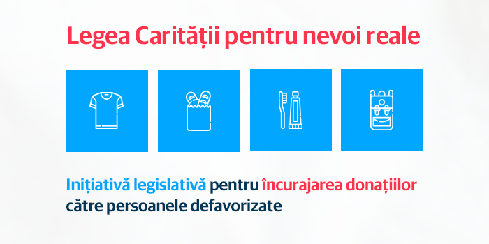 USR, inițiativă legislativă pentru încurajarea donațiilor către persoanele defavorizate