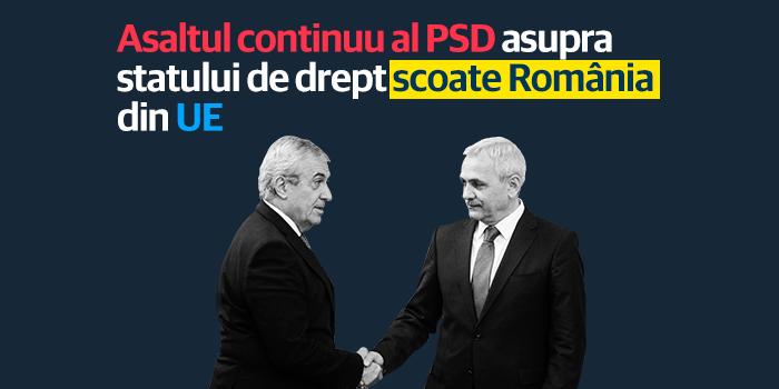 USR: Asaltul continuu al PSD asupra statului de drept poate scoate România din UE