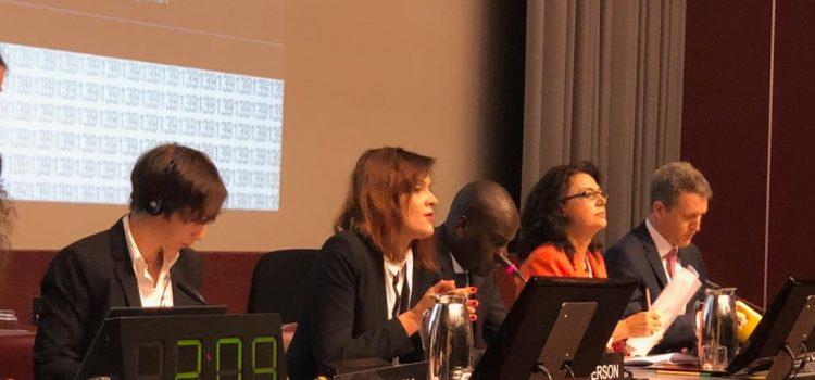Senatoarea USR Silvia Dinică a prezidat ședinta Comisiei pentru dezvoltare durabilă, finanțe și comerț, de la Geneva