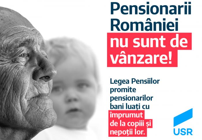 USR: Noua lege a pensiilor, o înșelătorie marca PSD-ALDE.