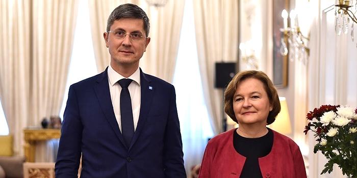 Președintele USR a avut o întrevedere cu ambasadorul francez și ministrul pentru Afaceri Europene din Franţa