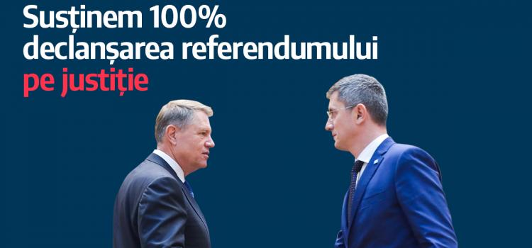 USR susține organizarea referendumului pe justiție