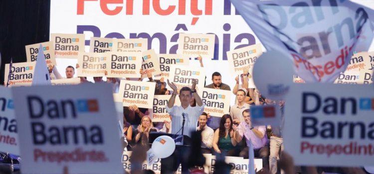 Mitingul Alianței USR PLUS la Timișoara. Dan Barna: Putem construi o țară în care tinerii să vrea să trăiască