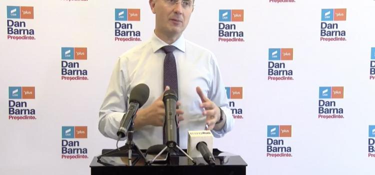 Dan Barna, candidatul Alianței USR PLUS la alegerile prezidențiale, și-a prezentat proiectul de Președinte la Pitești