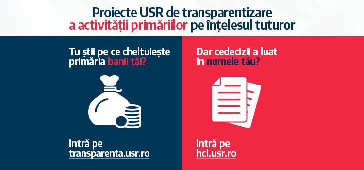 USR, noi demersuri spre digitalizarea și transparentizarea administrației publice