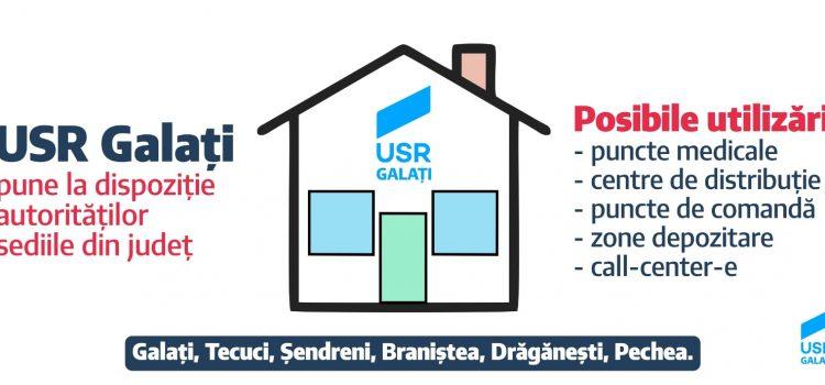 Sediile USR Galați, puse la dispoziția autorităților implicate în gestionarea crizei