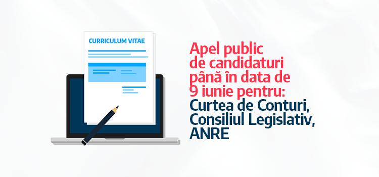 USR prelungește până pe 9 iunie concursul de CV-uri pentru Curtea de Conturi, Consiliul Legislativ și ANRE