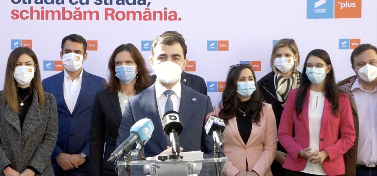 Copreședinții USR PLUS București au prezentat listele de candidați la Camera Deputaților și la Senat din Capitală