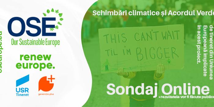 Tineretul european acționează împotriva schimbărilor climatice